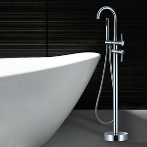 Free Standing Floor Mounted Bathtub Shower Faucet Spout