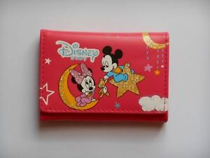 Petit-portefeuille-rose-fonce-MICKEY-et-MINNIE