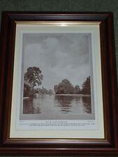 Print circa 90 yrs old Eel Pie Island Twickenham also available unframed