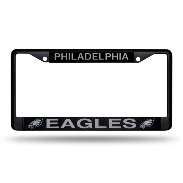 2 Philadelphia Eagles Metal Black License Plate Frame Auto Truck Car ...