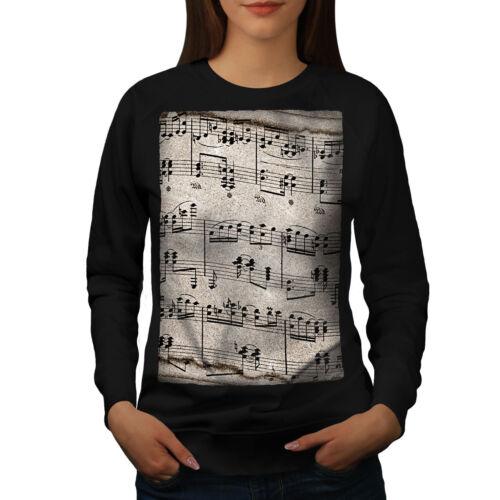 Wellcoda Music Key Notes Womens Sweatshirt Old Casual Pullover Jumper