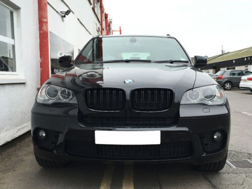 BMW E70 X5 X5m Rejilla Estilo Riñón Parrilla Negro Brillante Barra Doble M 2007+