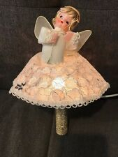 Vintage Mid Century Christmas Tree Topper  Electric Light Angel Reflector 1971