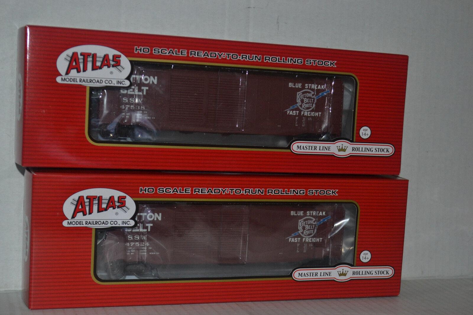 Cinturón de algodón 2 Atlas 50' Doble Puerta Boxcar Escala Ho 20002503, 20002504