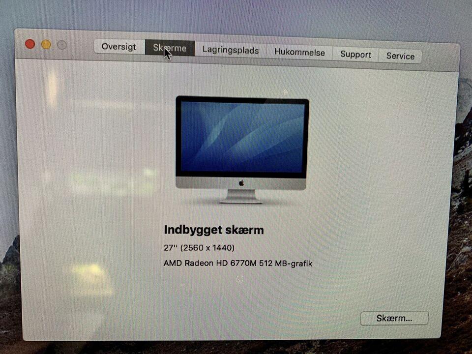 iMac, 27-inch, Mid 2011