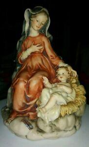 Giuseppe-Armani-Nativity-rare-Mary-amp-baby-Jesus-8-75-034-hight-6-5-034-base-A-BEAUTY