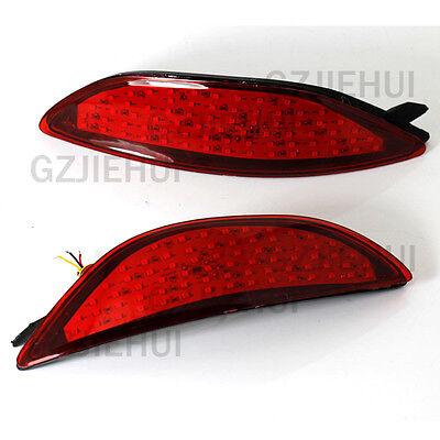 2x LED Rear Bumper Reflectors Light Brake Park For Hyundai Accent Sedan 2008-15