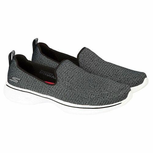 """Skechers Women/'s Go Walk 4 Slip On Black//Gray FREE SHIPPING /""""OFFER/"""""""