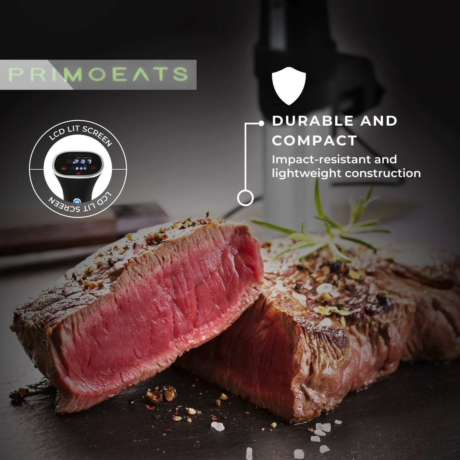 Sous Vide Cooker Immersion Pod W Digital LCD Display 800W Stainless STEEL