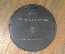 U.S.Navy Hydrographic Star Finder and identifier in Case Model #2102-D