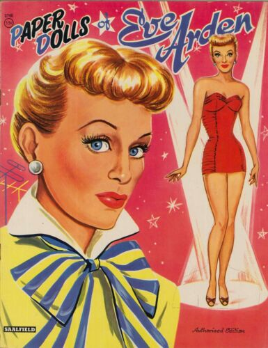VINTAGE UNCUT 1940S EVE ARDEN PAPER DOLLS HD LASER REPRODUCTION~LO PR~HI Q