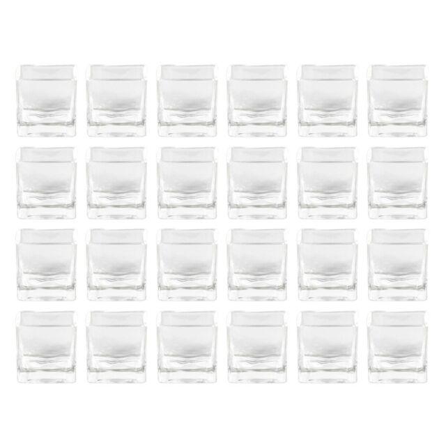 """8 x 8 x 8cm/""""  752-75-99 SANDRA RICH GLAS- VASE Windlicht./""""CUBE DOTS Punkte"""