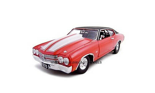 1970 CHEVROLET CHEVELLE PRO STREET SS 454 rosso 1 24 CAR BY UNIQUE REPLICAS 18677