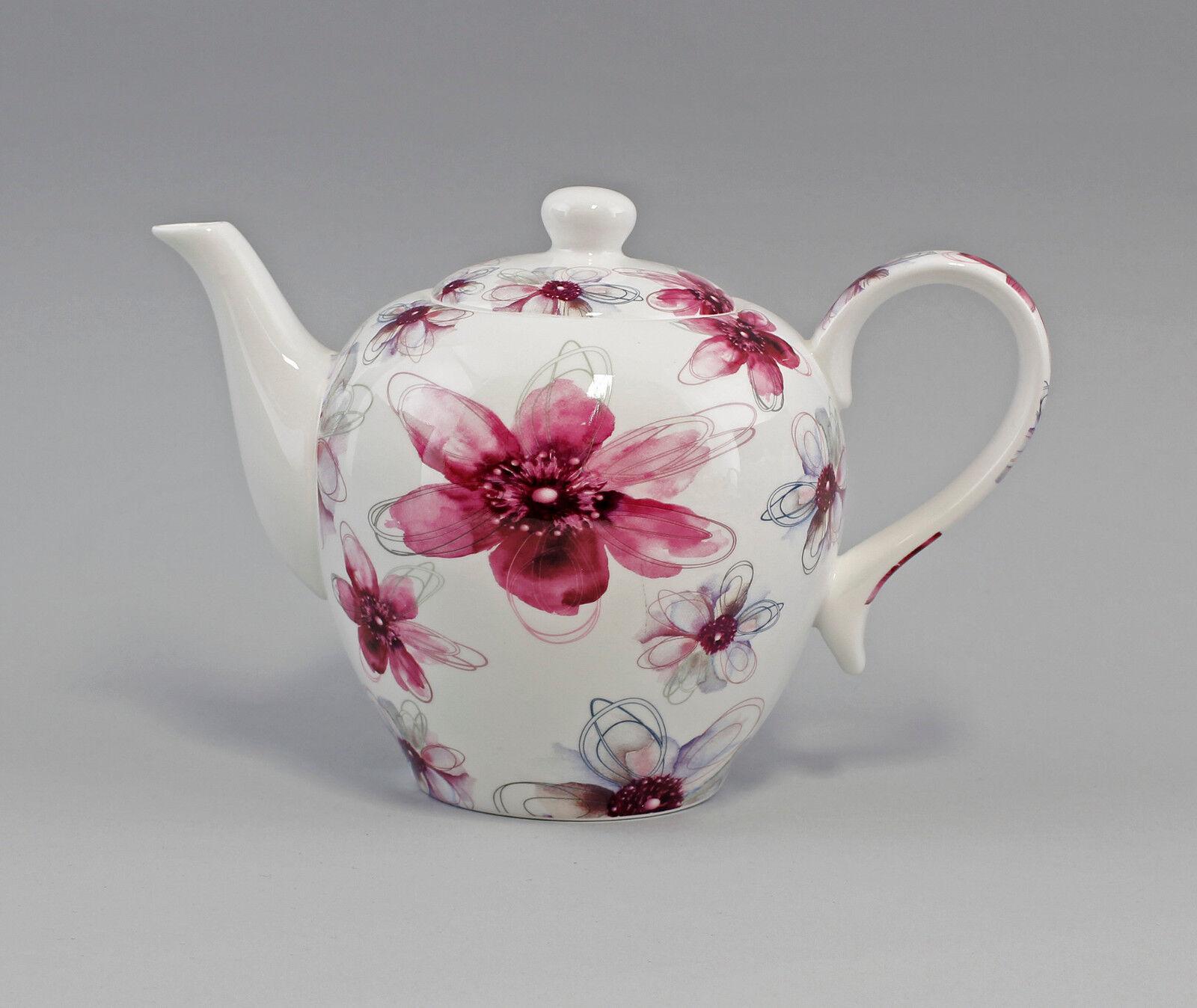 9952286 Porcelaine Thé-Théière décor fleurs Rose JAMESON & TAILOR 1,3 L h16, 5 cm