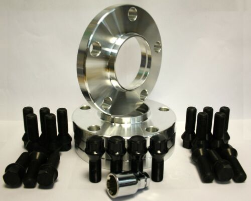 4 X 13MM WHEEL SPACERS BLACK BOLTS /& LOCKING FIT FOR BMW 6 SERIES F06 F12 F13