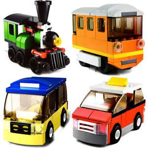 4-Set-Sluban-DIY-Kids-Building-Blocks-Toys-Puzzle-Transport-Bus-Train-Car-B0598