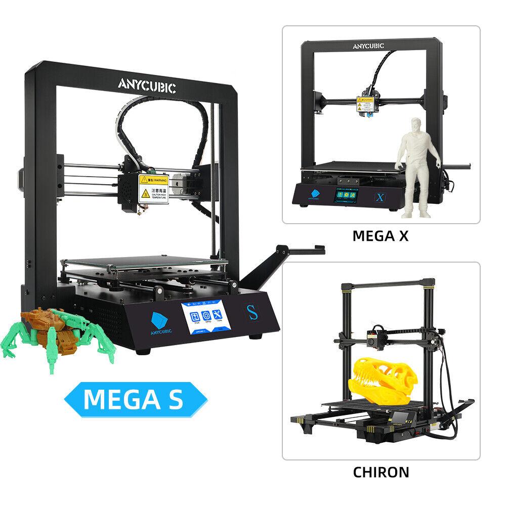 ANYCUBIC 3D Printer Mega S / Chiron / Mega X Ultrabase Metal Frame Resume Print Anycubic chiron frame mega metal print printer resume ultrabase