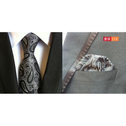 Homme Cravate Paisley Polka Dots Pattern Mouchoir Cravate Mouchoir De Poche Lot