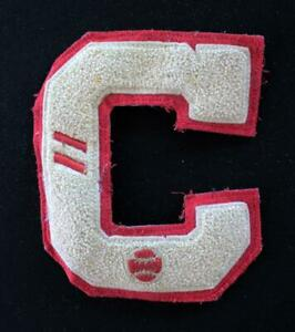 VINTAGE-1960-039-S-1970-039-S-SCHOOL-BASEBALL-LETTER-RED-AND-WHITE-PATCH-5-034-X-6-034