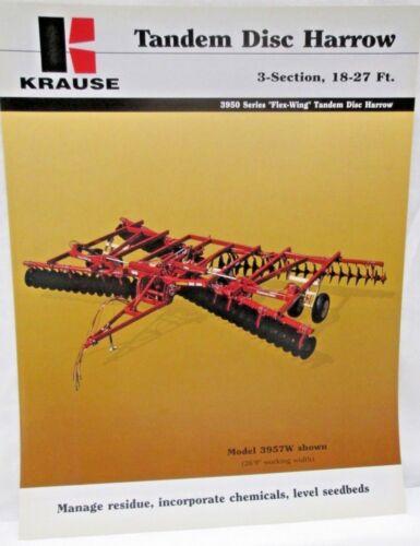 Krause Tandem Disc Harrow 3 Section 18-27 ft 3950 Series Flex Wing Brochure