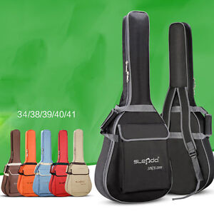 Folk-Acoustic-Guitar-Gig-Bag-Soft-Case-Strap-Padded-for-38-39-40-41-034-Waterproof