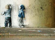 BANKSY ART POSTER PRINT A3 SIZE(GRAFFITI KIDS)