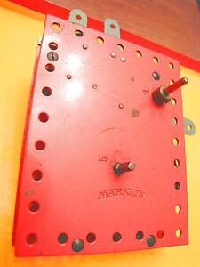 Clockwork-Motor-Marklin-Meccano-vintage-pre-war-years-039-40-meccanismo-di-orologio