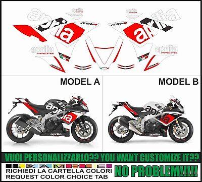 Kit adesivi decal stikers RSV4 REPLICA RF 2009 2014 INDICARE IL MODELLO A o B
