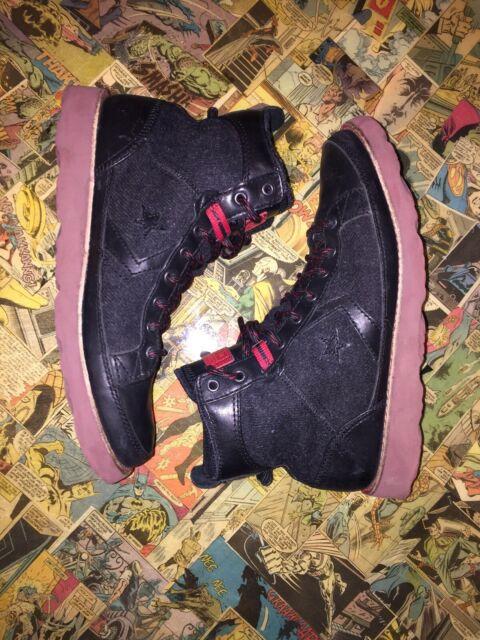 e0994661619 Converse Pro Field HI Hiking Trail Boots, Size 7.5 Men / 9.5 Women -  Black/Gray