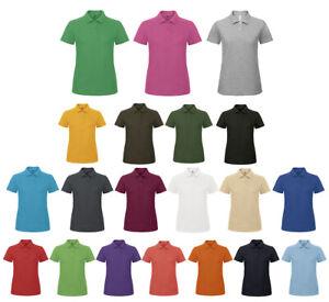 new style 5d15c fb127 Details zu Damen kurzarm Polo Shirt Basic Poloshirt bedrucken besticken  geeignet
