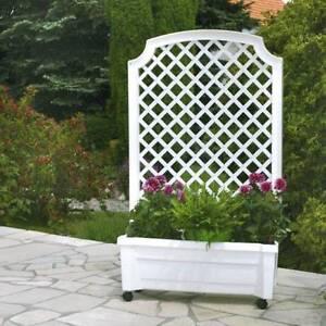 Pflanzkasten-034-Calypso-034-mit-Bewaesserungssystem-m-Spalier-und-Rollen-Blumenkasten