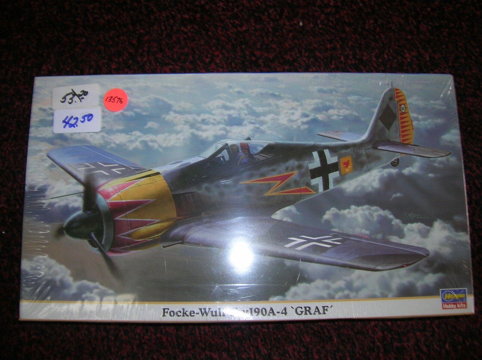 HASEGAWA   FW 190 A-4  GRAF   GERMAN    1 48 LIST   53.00 LOT