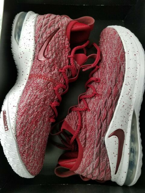 lowest price f145a e260c Nike Lebron XV 15 Low Mens Ao1755-200 Team Red Taupe Basketball Shoes Size 8
