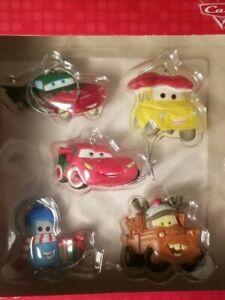 HALLMARK-Disney-Pixar-CARS-5-PC-CHRISTMAS-Ornament-set-NEW
