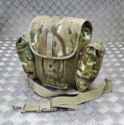 Genuine British Army S10 S6 Gas Mask Bag DPM Camo Haversack Respirator PLCE