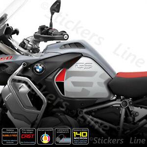 2-Adesivi-Fiancate-Serbatoio-moto-BMW-R1200-1250-gs-Adventure-LC-gray-rosso-nero