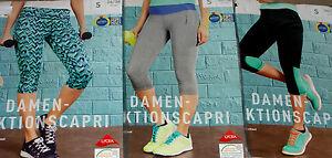 Damen-FUNKTIONSCAPRI-Funktionshose-kurz-Fitnesshose-Capri-Laufhose-Gr-S-M-NEU