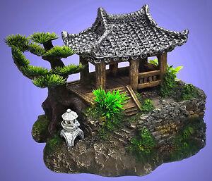 aquarium deko china garten haus mit h hle dekoration zubeh r ebay. Black Bedroom Furniture Sets. Home Design Ideas