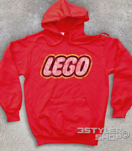 UNISEX SWEATSHIRT logo LEGO ANTIQUE bricks games 80s Mattel Duplo