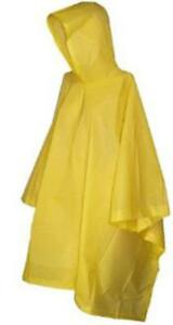 Vinyl-Poncho-Yellow-Waterproof-Raincover-Raincoat-Ground-Sheet-One-Size-Fits-All