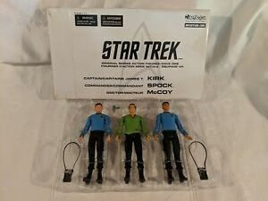 Art Asylum Star Trek Original Series Action Figures Wave One Kirk Spock Mccoy