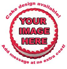 YOUR IMAGE PHOTO LOGO CUSTOM Edible Cake Topper Image Round Sugar Frosting Sheet