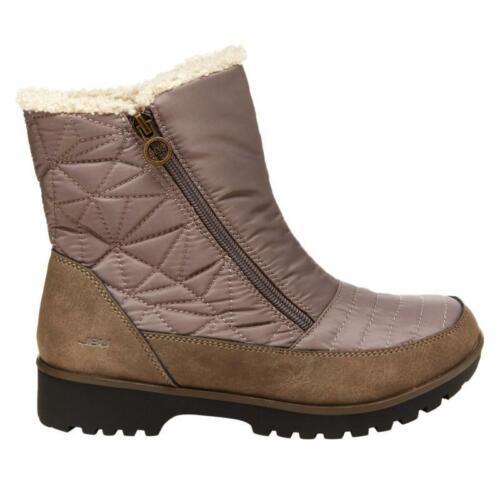 JBU by Jambu SNOWFLAKE Womens Taupe B9SN54 Waterproof Winter Boots Shoes
