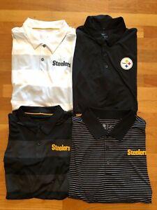 nike-golf-Steelers-Mens-polo-DRI-FIT-standard-fit-PITSBURGH-NFL-NWT-NEW-M-L-XL