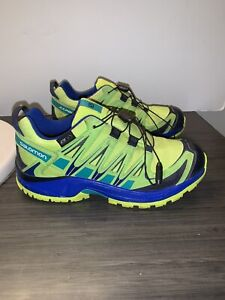 Authentic Salomon XAPRO Speedcross Trail Running Shoe Size 4 Green Blue WOMENS