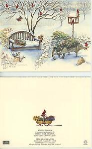 CHRISTMAS WINTER SNOW GARDEN SQUIRREL BEE WILDFLOWERS CARD 1 GARDEN TULIPS PRINT