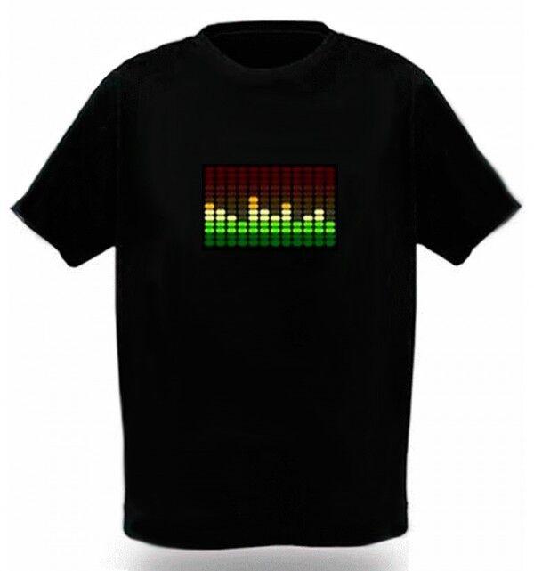 Camiseta Led Ecualizador Ecualiseta Barras