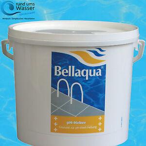 bellaqua ph heber 5kg ph plus pool schwimmbad ph wert regulierung bayrol ebay. Black Bedroom Furniture Sets. Home Design Ideas