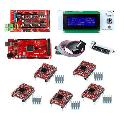 Ramps1.4+LCD2004 Display Controller+Mega R3+A4988 Stepper driver 3D Printer Kits
