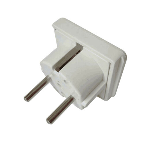 3 Pin UK to 2 Pin EU Euro Europe European Travel Adapter Power Plug India